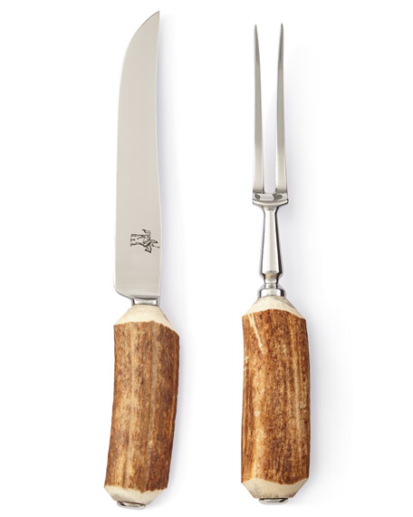 Antler Handle Carving Set