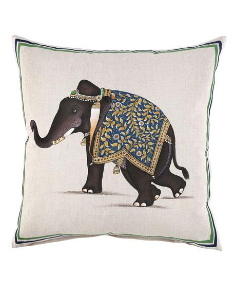 "Elephant Pillow, 20""Sq."