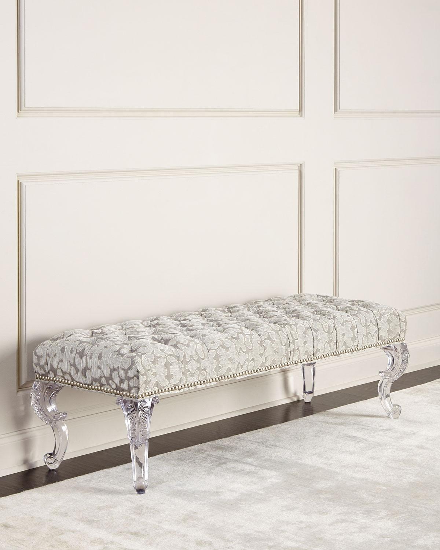 Regis acrylic leg bench