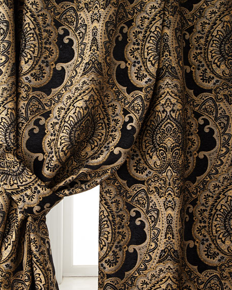 "Two 108""L Valour Curtains"
