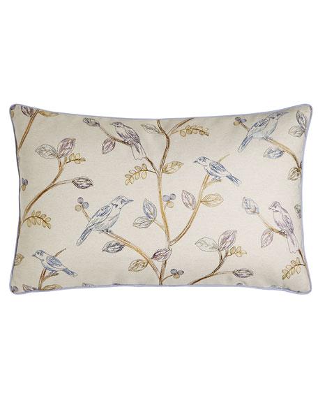 """Suki Bird Pillow, 15"""" x 26"""""""