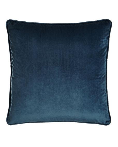 """Blue Velvet Pillow, 18""""Sq."""