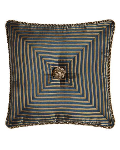 Austin Horn Classics Mitered-Stripe Pillow, 18