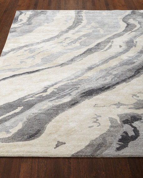 Gray Marble Rug