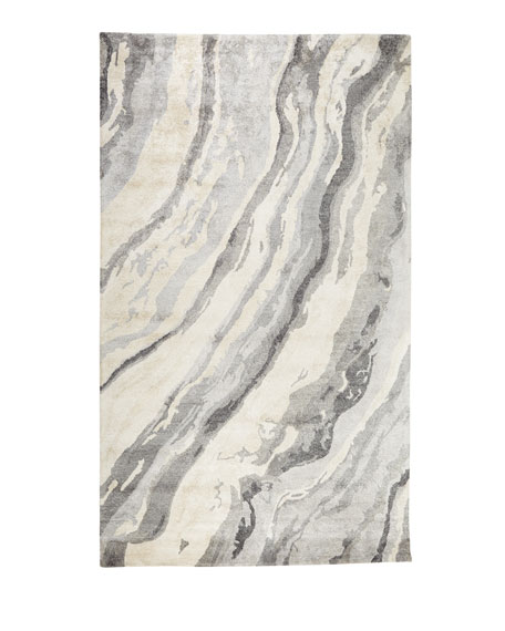 "Gray Marble Rug, 3'3"" x 5'3"""