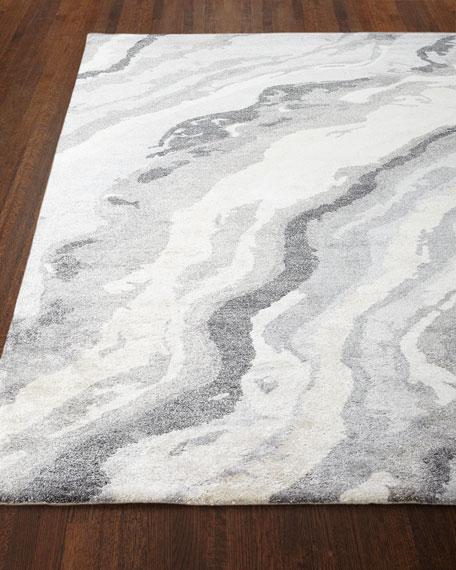 Gray Marble Rug, 5' x 8'