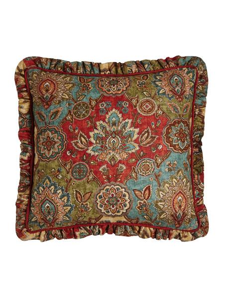 "Granada Pillow, 18""Sq."