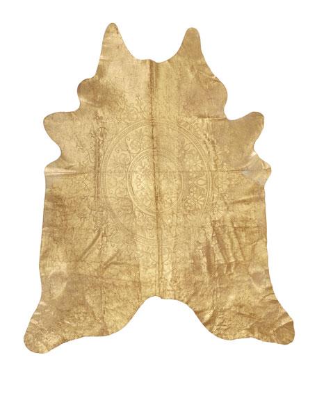 Medallion Hairhide Rug, 5' x 7'