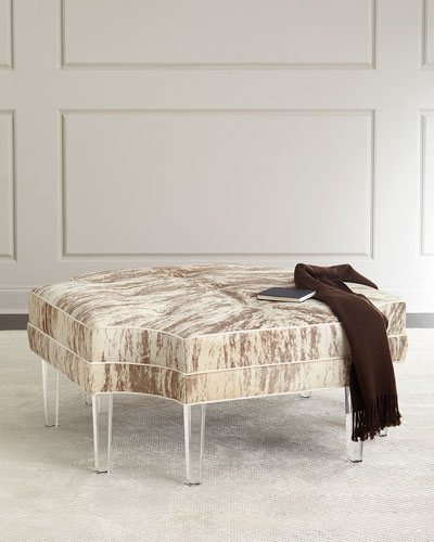 Exceptional Holt Hairhide Ottoman