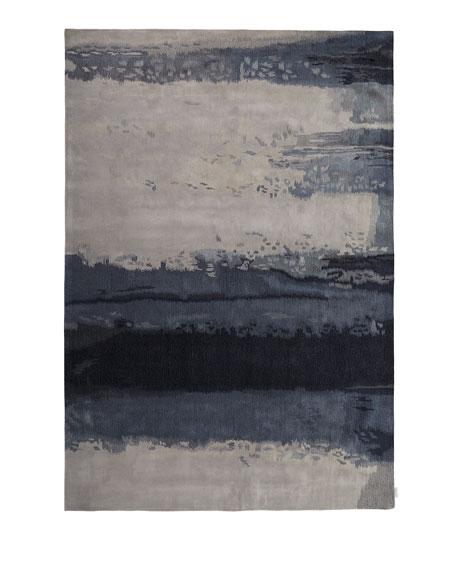 Blue Luster Rug, 3' x 5'