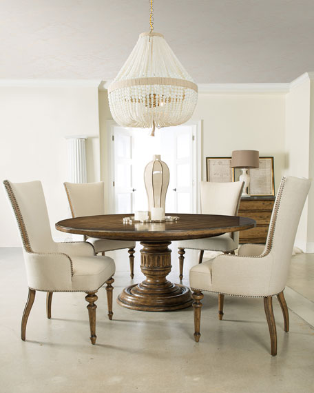 Hooker furniture lochte round dining table neiman marcus for Stores like horchow
