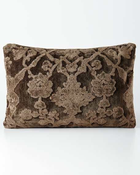Brown Down-Filled Pillow