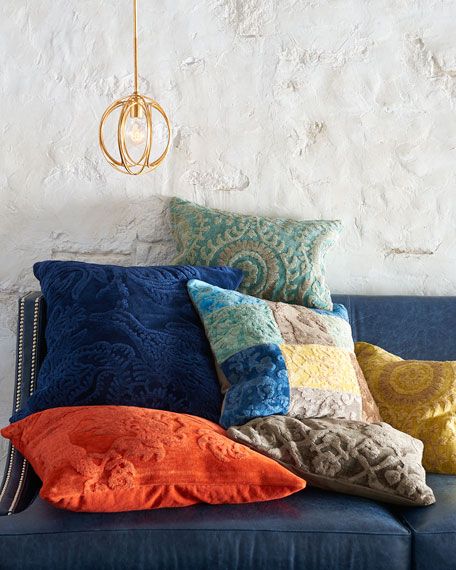 Patchwork Down-Filled Pillow