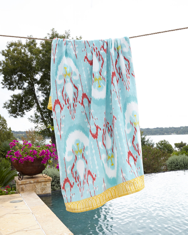 Ralph Lauren Mens Beach Towel: John Robshaw Vaya Aqua Beach Towel