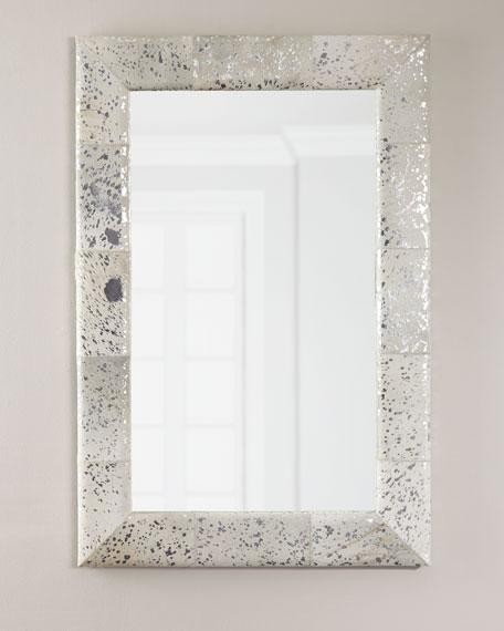 Aldo Small Metallic Hairhide Mirror