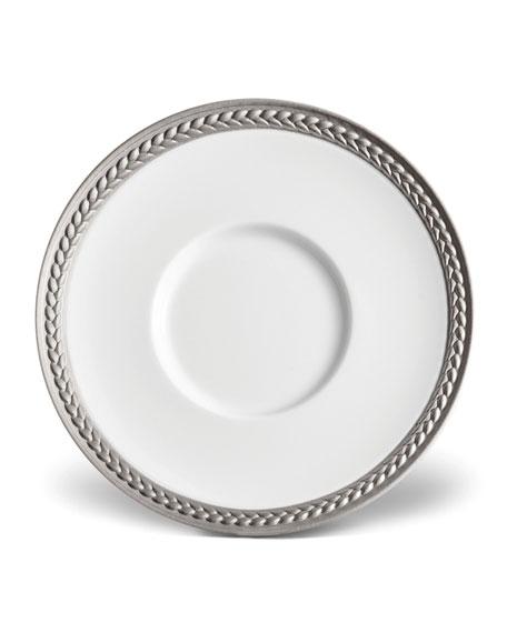 L'Objet Soie Tressee Platinum Saucer