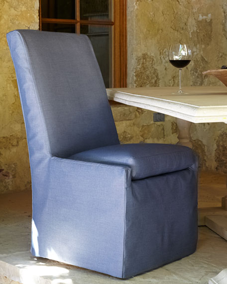 Lane Venture Blue Bennett Outdoor Dining Side Chair