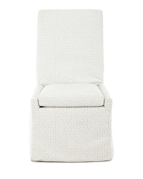 Beige Bennett Outdoor Dining Side Chair