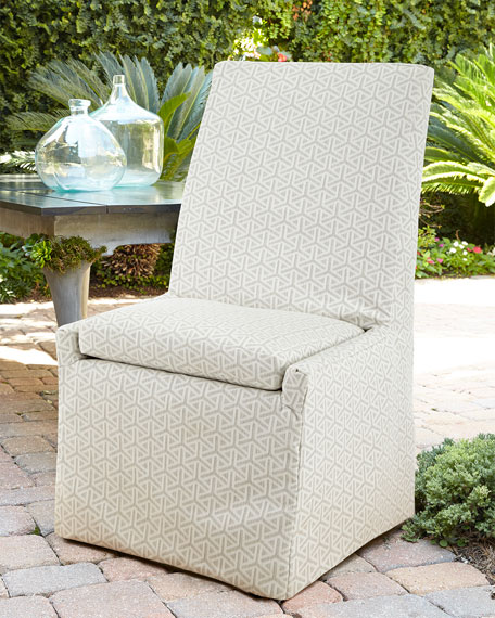 Lane Venture Beige Bennett Outdoor Dining Side Chair