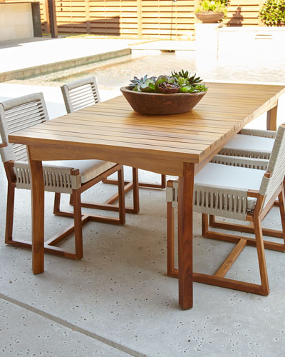 San Martin Teak Outdoor Dining Table