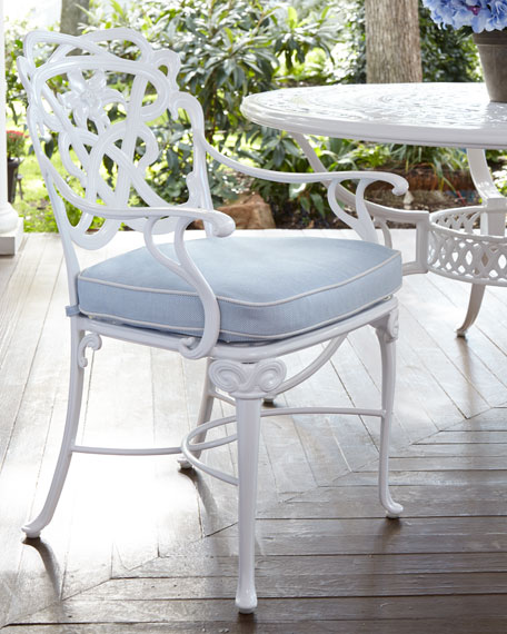 Brown Jordan Day Lily Outdoor Dining Armchair