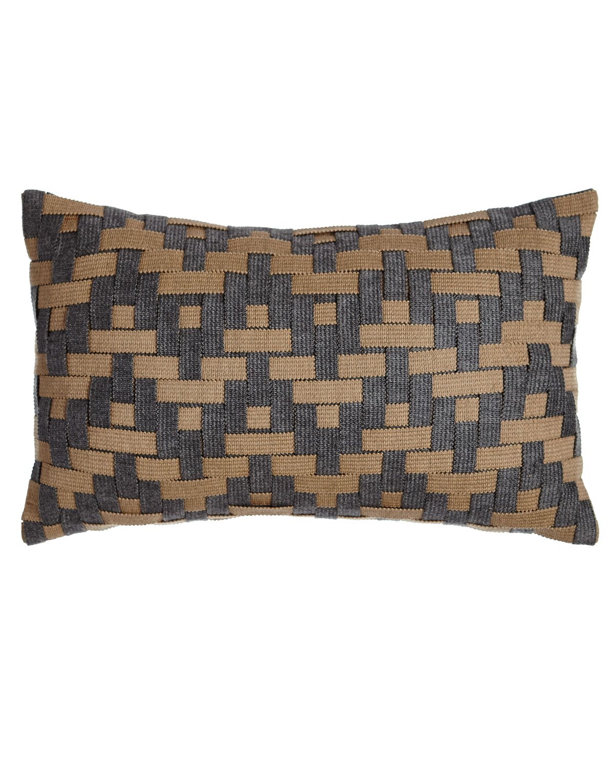 Elaine Smith Smoky Basketweave Outdoor Pillow Neiman Marcus