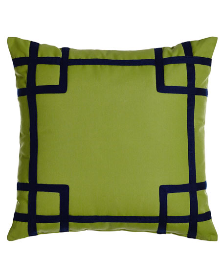 Lacefield Designs Rio Green/Navy Outdoor Pillow