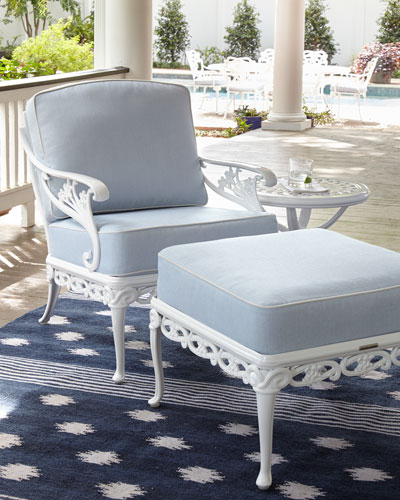Day Lily Outdoor Ottoman