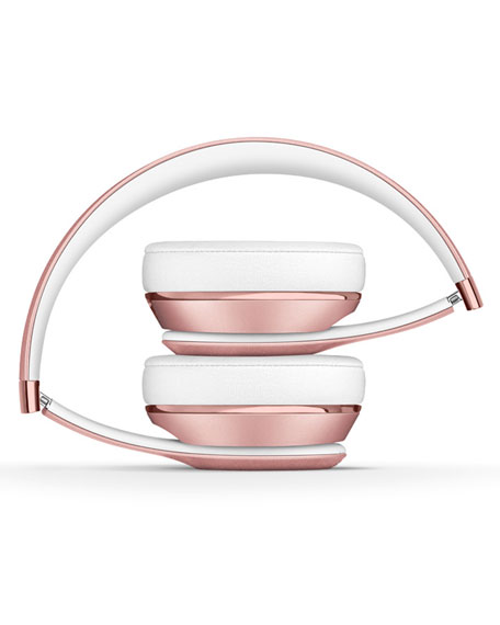 Rose Gold Beats Solo 3 On-Ear Wireless Headphones