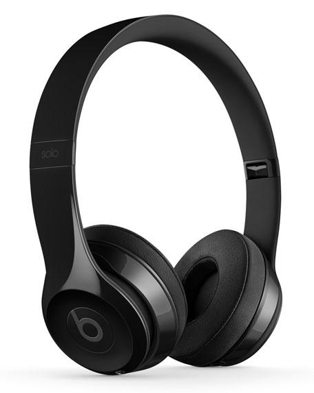 beats by dr dre gloss black beats solo 3 on ear wireless headphones neiman marcus. Black Bedroom Furniture Sets. Home Design Ideas