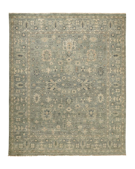 Lambros Hand Knotted Rug, 5' x 8'