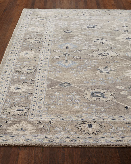 Gilma Gray Hand Tufted Rug, 5' x 8'