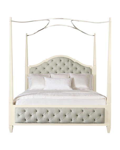 Natalie Queen Tufted Canopy Bed