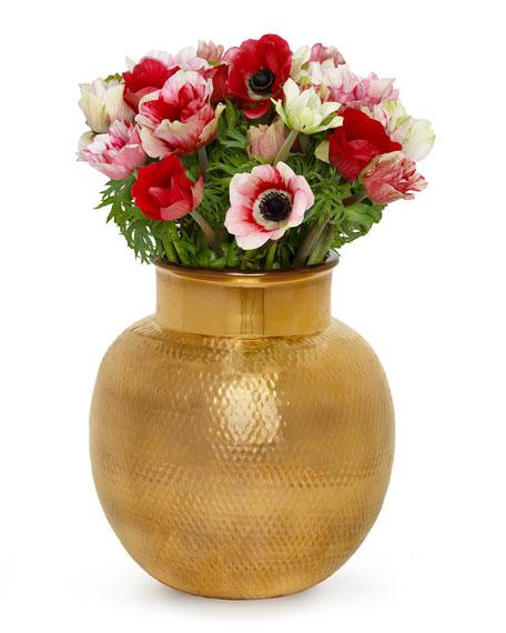 AERIN Textured Gold Sphere Vase
