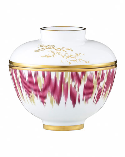 Voyage en Ikat Small Bowl with Lid