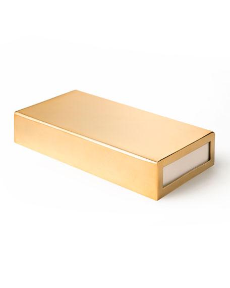 AERIN Oversized Gold Matchbox