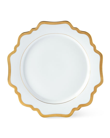 Anna Weatherley Anna Weatherly Antiqued White Dinner Plate