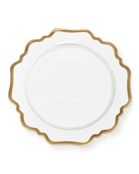 Anna Weatherley Anna Weatherly Antiqued White Dessert Plate