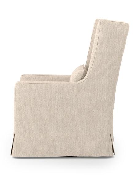 Judith Linen Swivel Chair