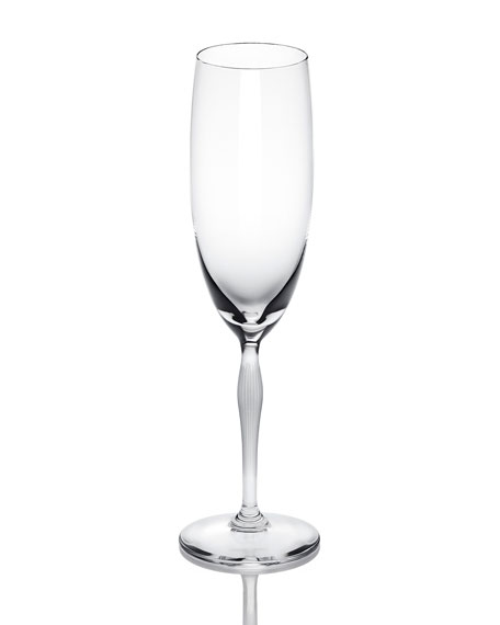 Lalique 100 Points Crystal Champagne Flute