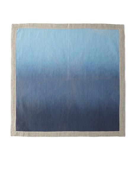 Kim Seybert Dip-Dye Linen Napkin, Navy/Blue