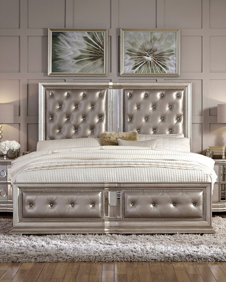 Vivian Tufted California King Bed Neiman Marcus