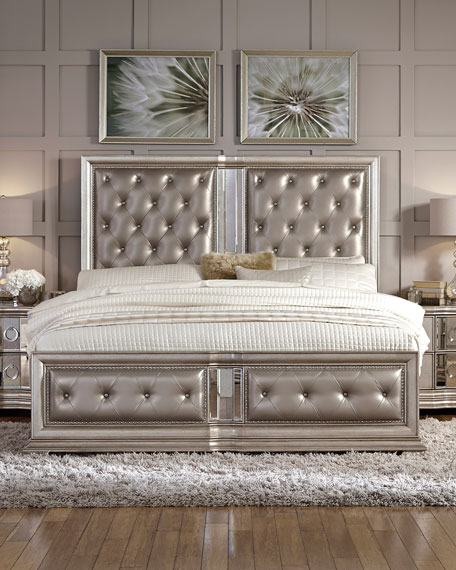 Vivian Tufted Queen Bed Neiman Marcus