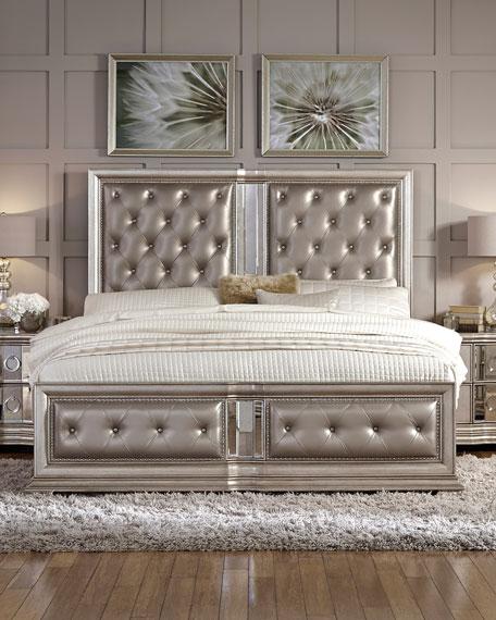 Vivian Tufted Queen Bed Neiman Marcus