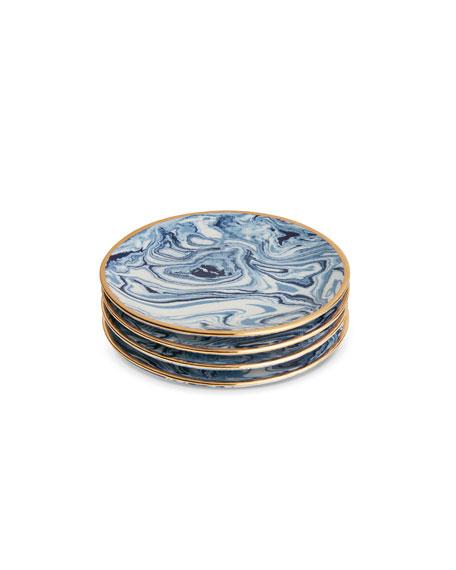 Marbleized Coasters, Set of 4