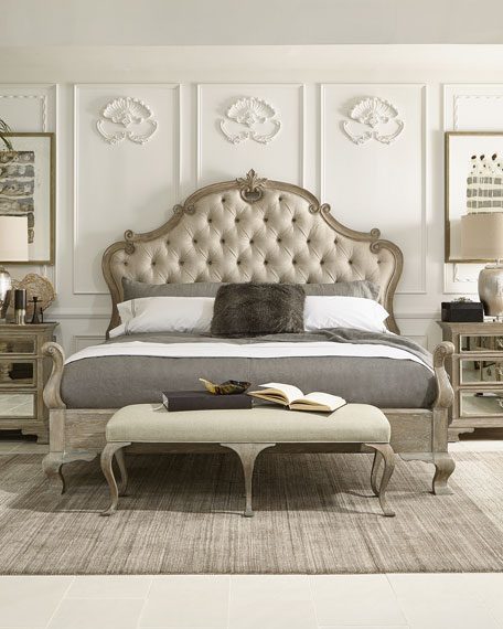 . Bernhardt Ventura Tufted King Bed