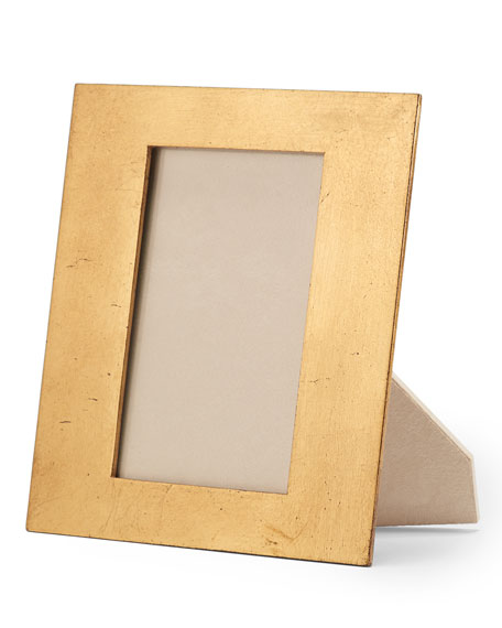 "Wood and Gold-Leaf Photo Frame, 4"" x 6"""