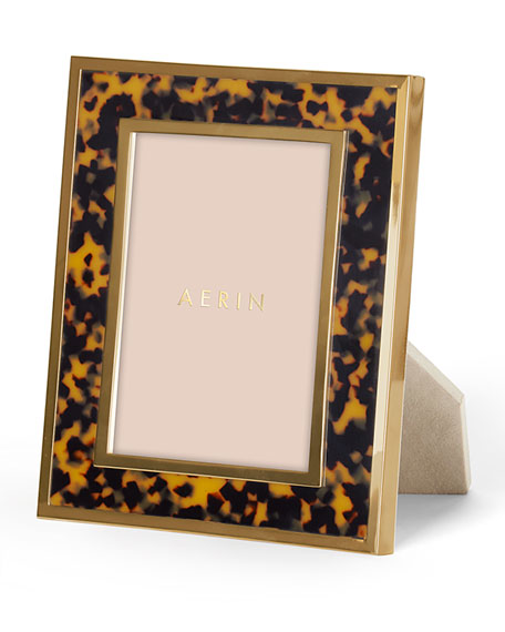 """Tortoise-Inlay 4"""" x 6"""" Picture Frame"""