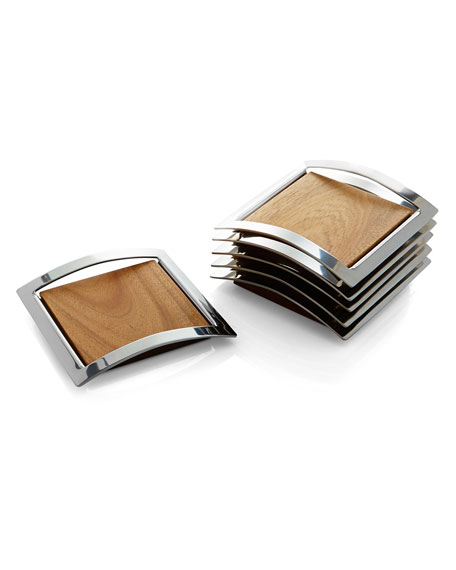 Nambe Mikko Coasters, Set of 6