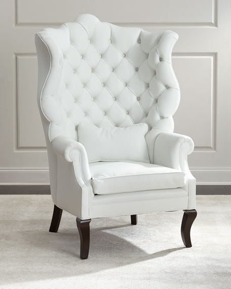 white leather armchairs sale haute house pantages leather wing chair 21971 | NMH9TFT cu